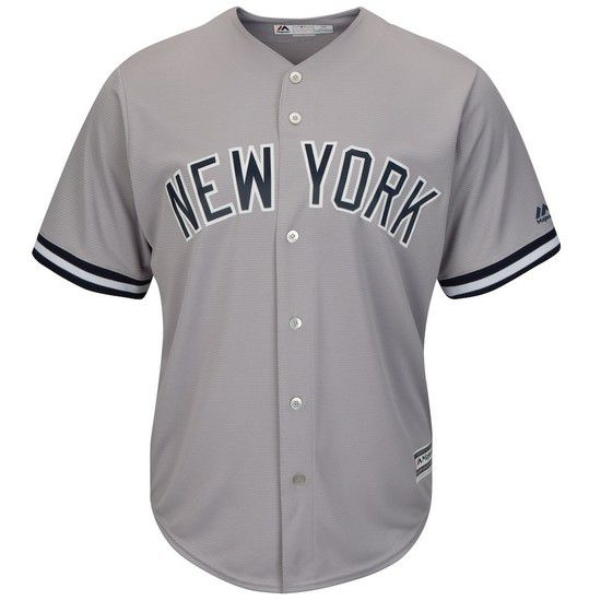 CAMISETA MAJESTIC NEW YORK YANKEES - GRIS / AZUL