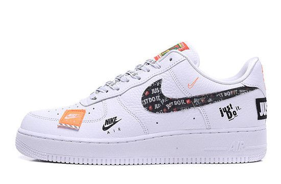 ZAPATILHA NIKE AIR FORCE 1 '07 PREMIUM JUST DO IT - BLANCO