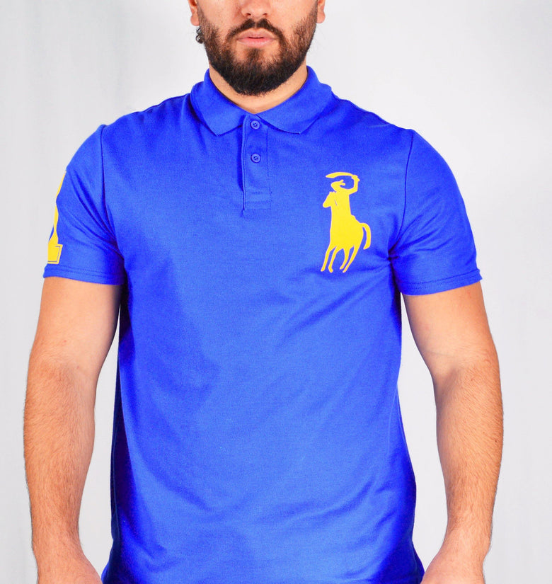 Men's Omar Guevara Ralph Freedom Fighter Blue polo shirt £27.99 - DadiTude
