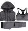Quick Dry Sport Suits Fitness Yoga Running Athletic Tracksuits Bra &