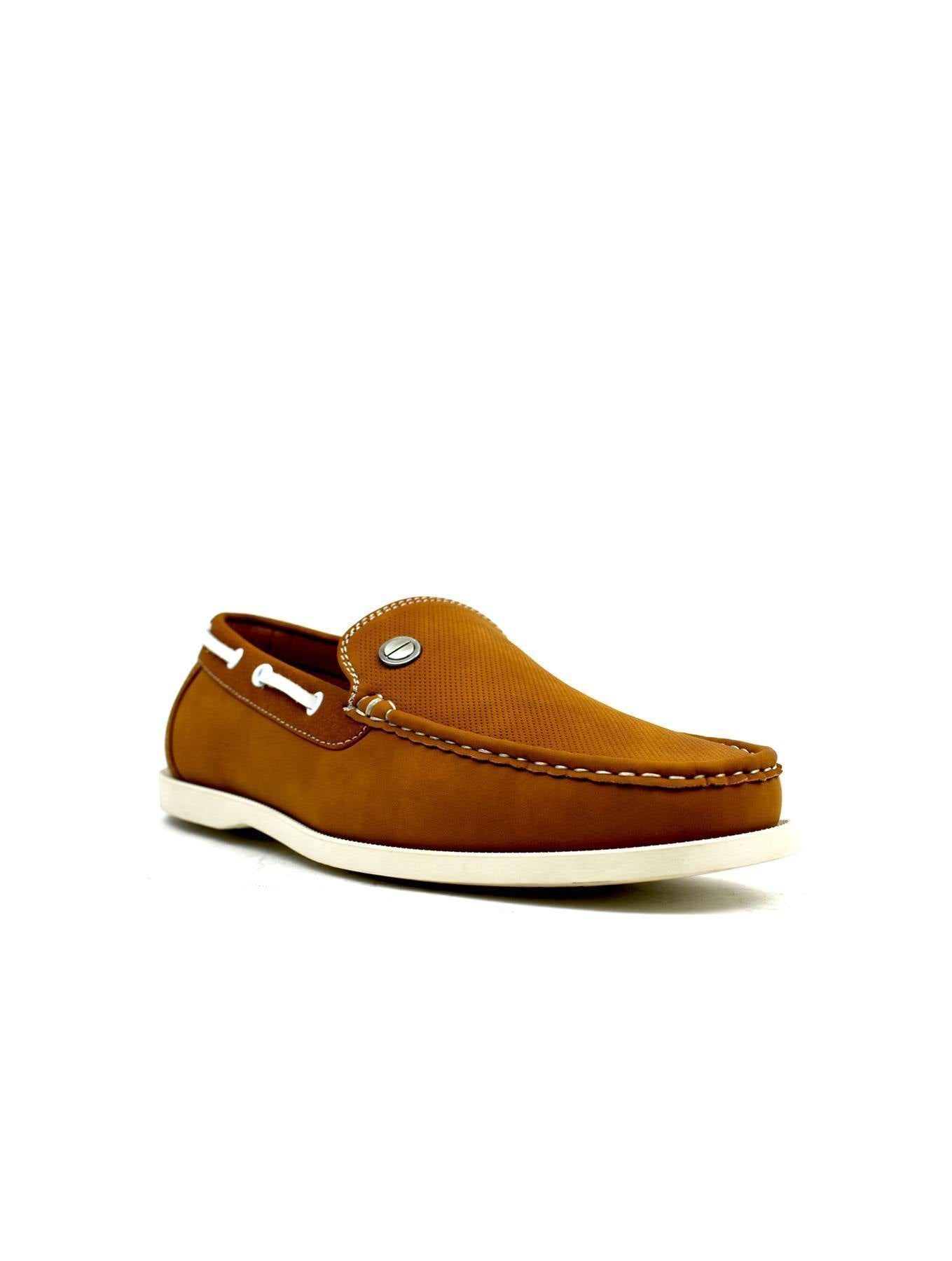 Emblem Boat Shoes Tan - DadiTude