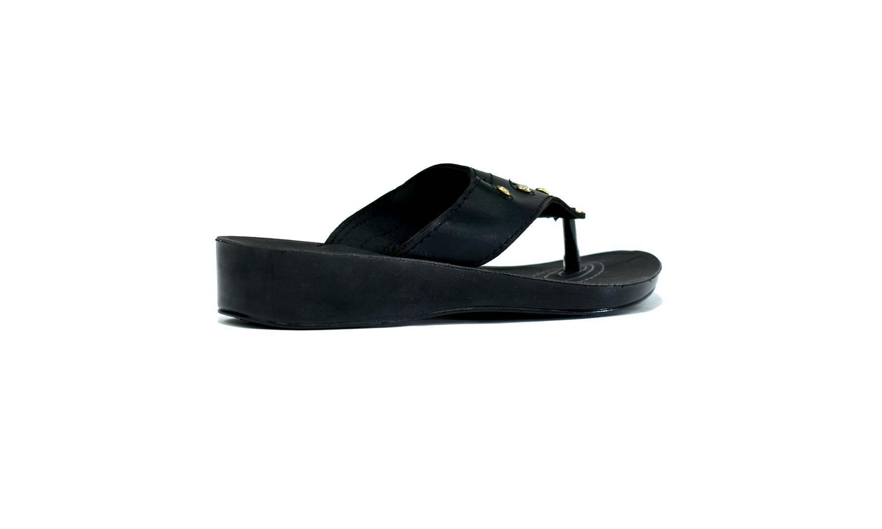 Shooting Gold Star Flip Flop Black - DadiTude