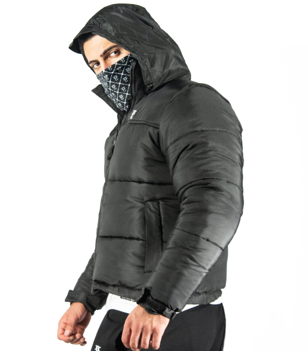 OG DEFENDER Puffer jacket with Detach Mask - DadiTude
