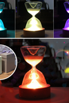 Timed colorful hourglass with sleeping remote night light