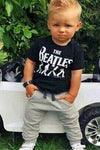 Boy's cotton two-piece set Letter print T-shirt + trousers baby suit