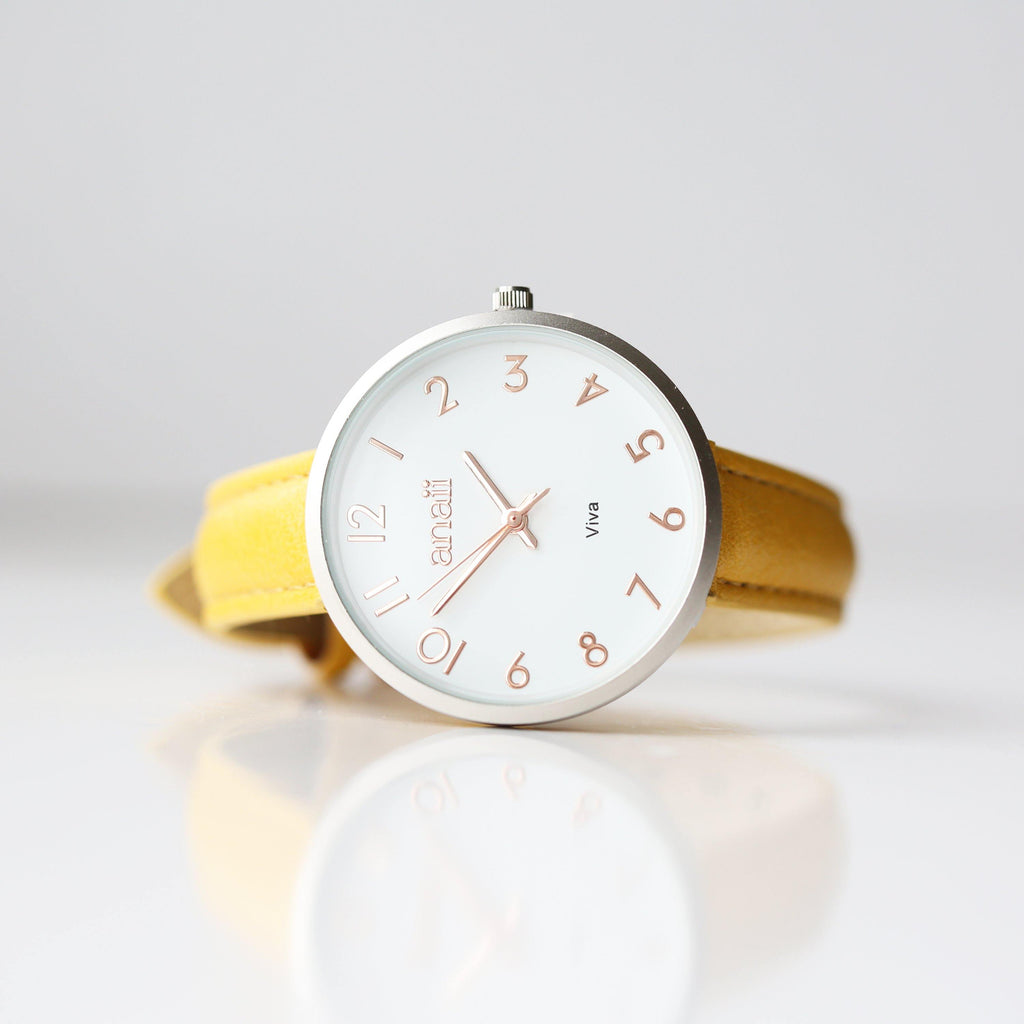 Personalised Yellow Watch Anaii - DadiTude