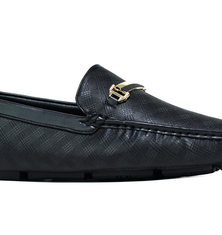 Gold Bar Loafer Black - DadiTude