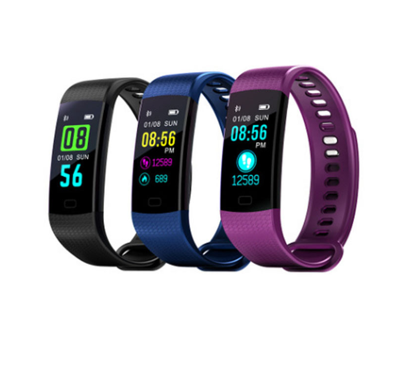 Smart Band Watch Color Screen Bracelet Heart Rate Activity Fitness - DadiTude