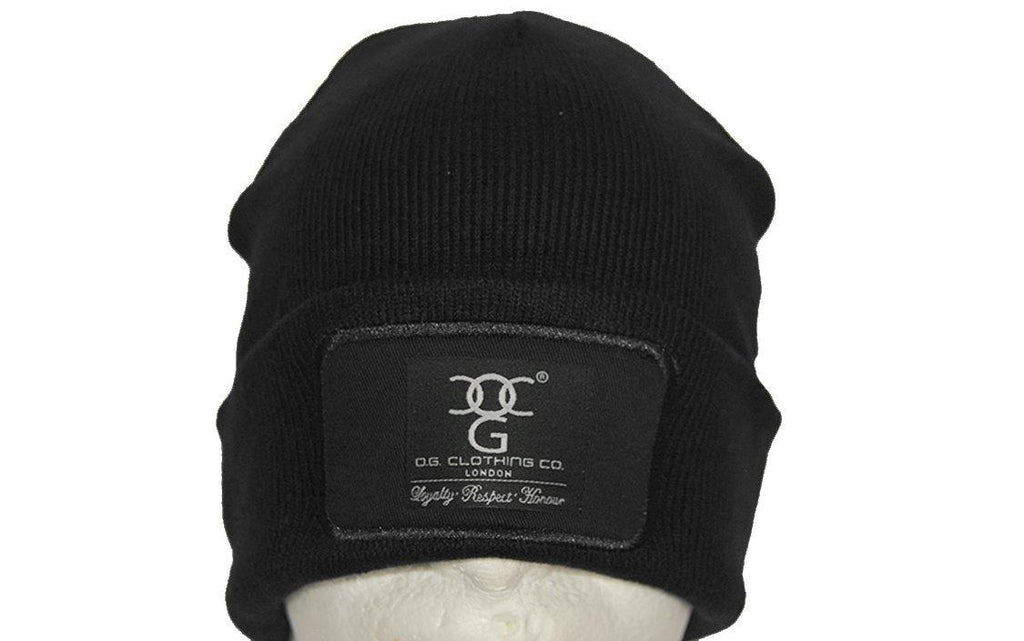 Black turn up beanie, with official patch - DadiTude