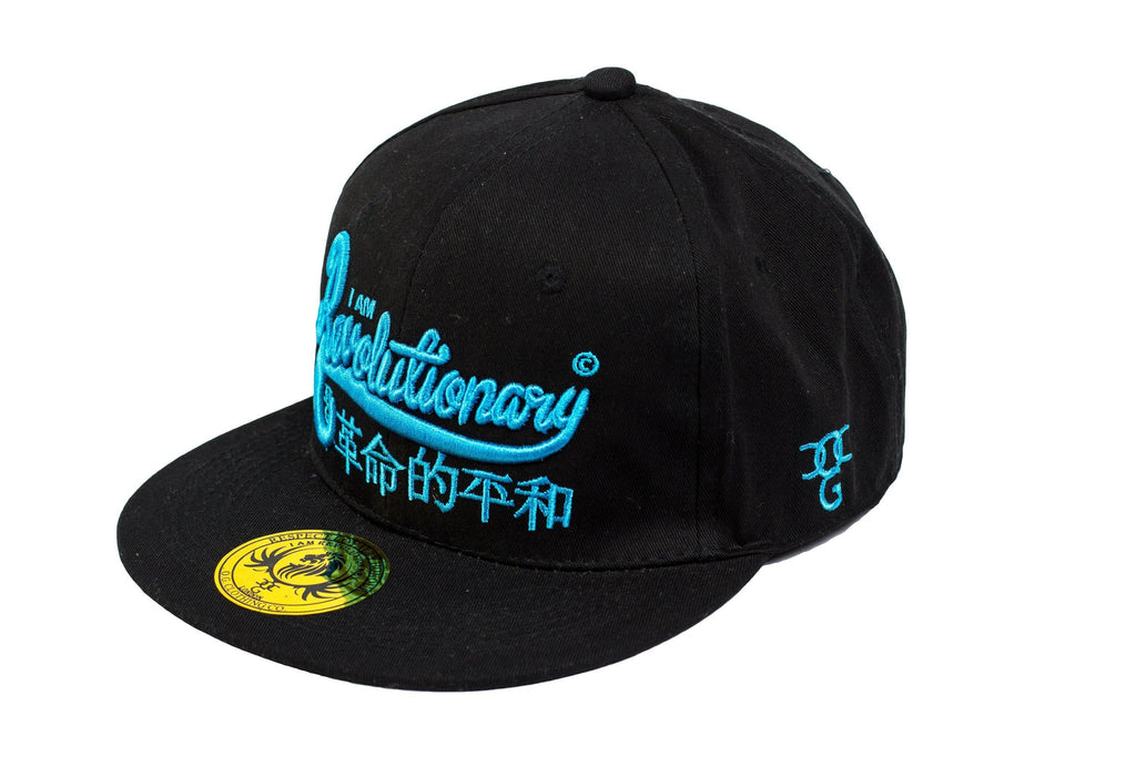 'I Am Revolutionary' Snapback Black/Blue - DadiTude