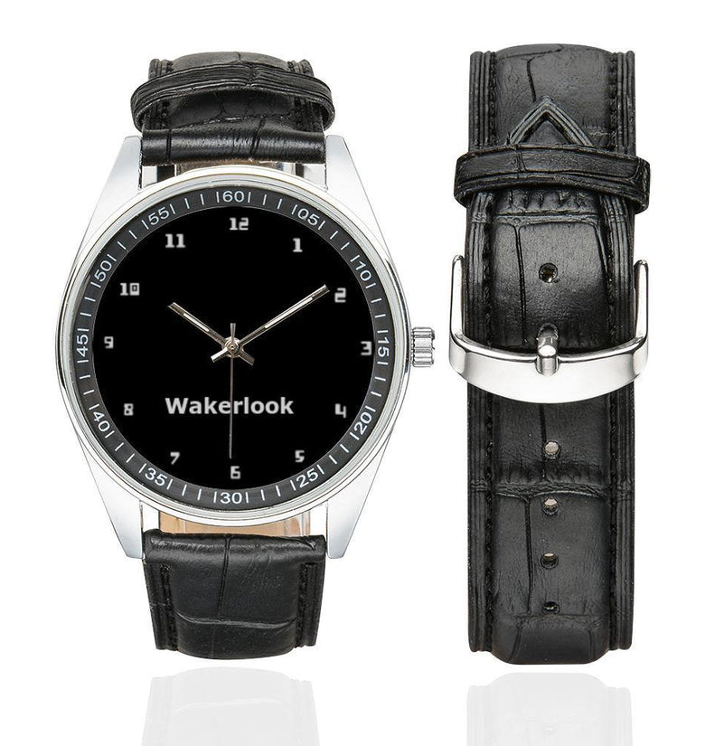 Men's Casual Wakerlook Leather Strap Watch - DadiTude