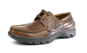 Men's Thick Sole Lace Up Walking Shoes Brown - DadiTude