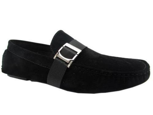 Men's Buckle Strap Loafer Black - DadiTude