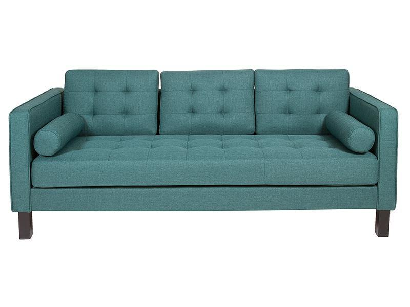 2-Seater Sofa (203 x 81 x 81 cm) Pine Polyester Green - DadiTude