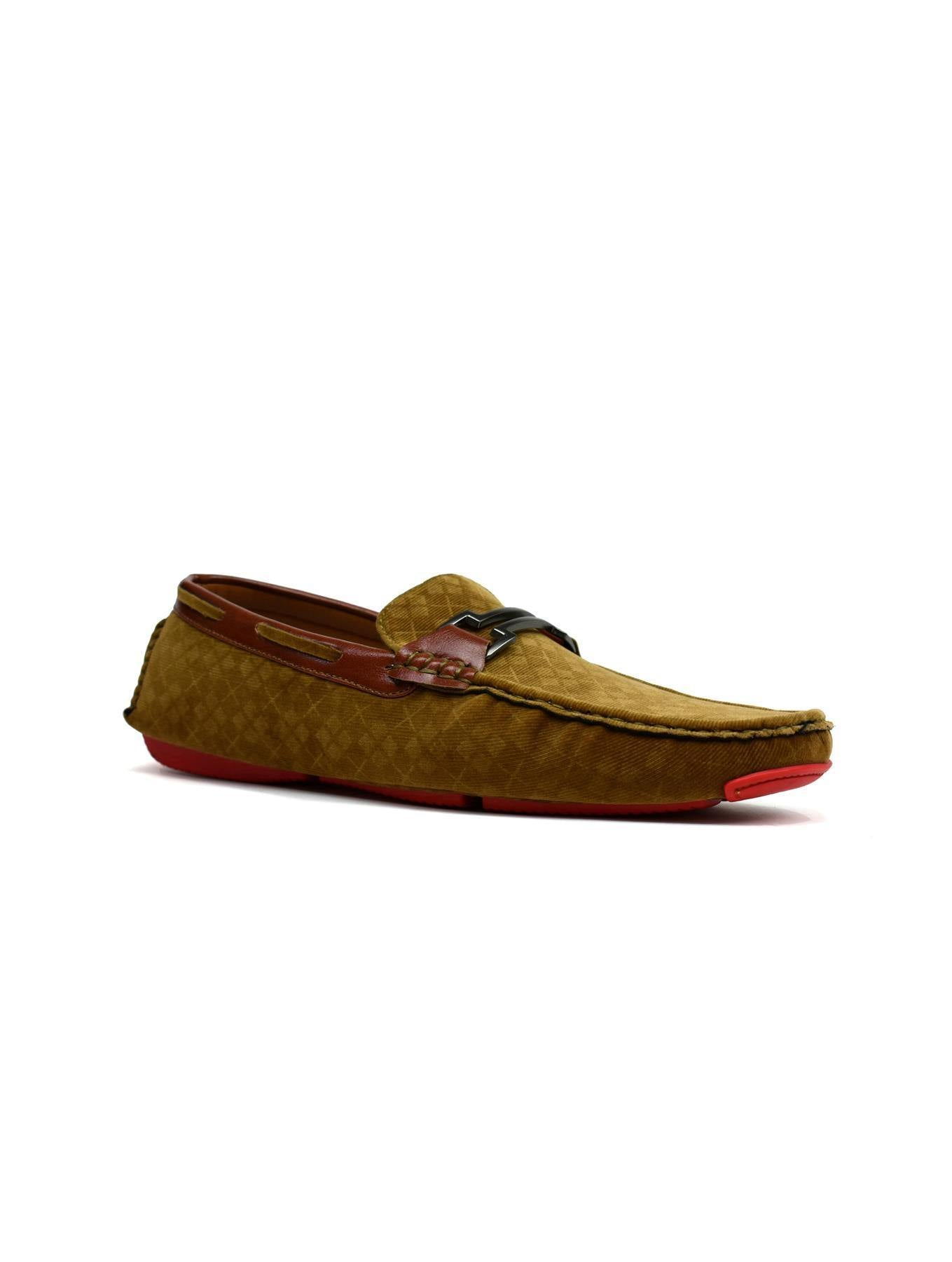 Unique Faux Suede Loafer Tan - DadiTude