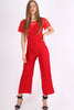 Red Sweetheart Lace Jumpsuit