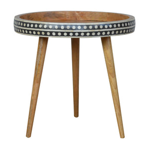 Pattterned Nordic Style End Table
