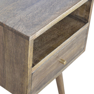 Petite Grey Washed Finish Bedside