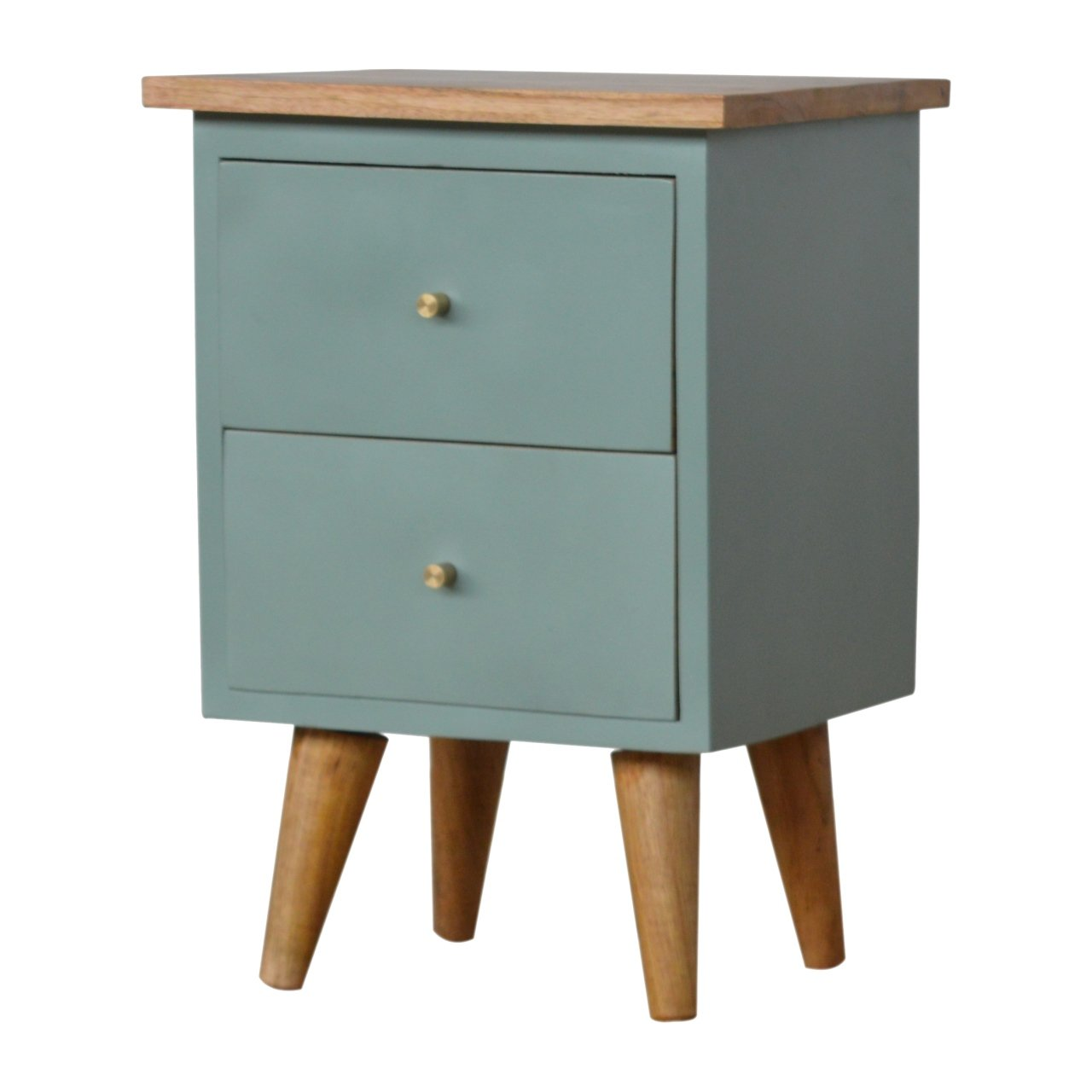 Green Hand Painted Bedside