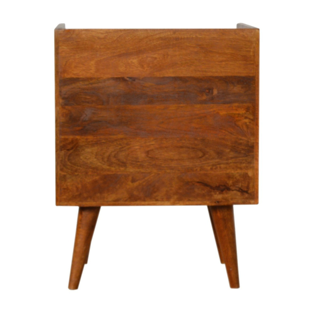 Chestnut Sunrise Bedside with Open Slot