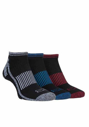 3 Pack Mens Cotton Trainer Sports Socks