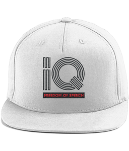 IQ Freedom Of Speech Cotton Rapper Cap - White