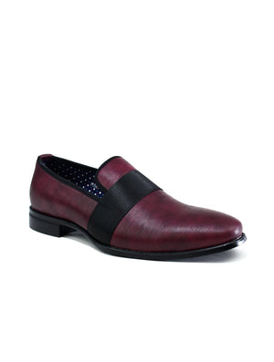 Men's Formal Slip On Shoes Burgundy