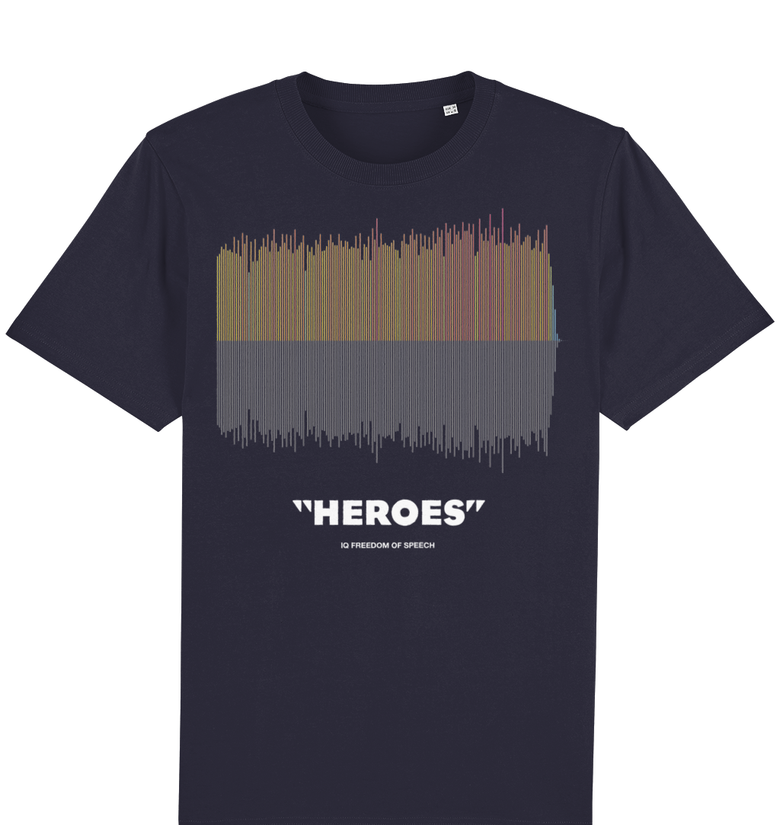 Heroes Colour Linear Soundwave T-Shirt - DadiTude