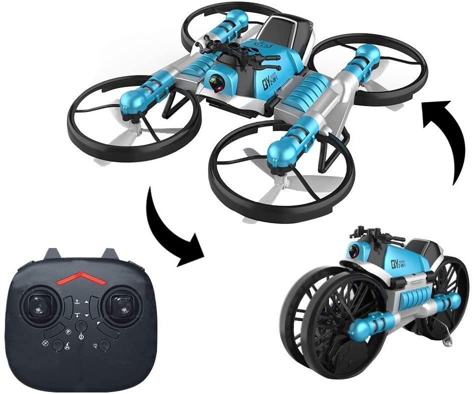 Leap 2-in-1 Land Travel Air Flight Deformation Motorcycle Quadcopter