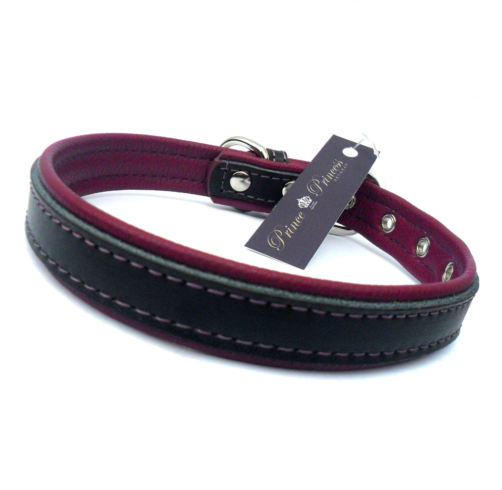 Berry Vegan Leather Dog Collar