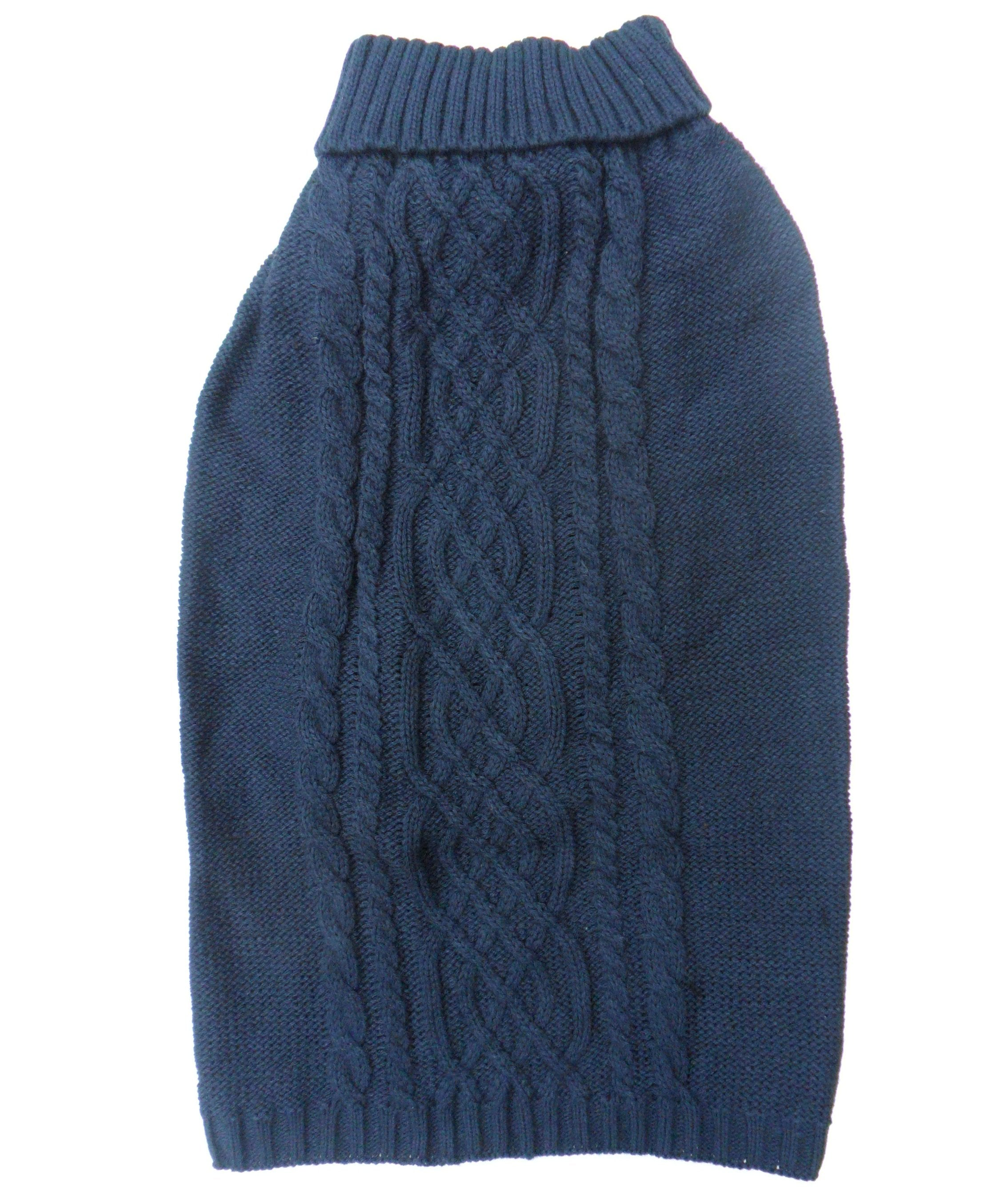 Cable Knit Dog Sweaters Jumpers in Blue, Berry, Beige, Black, Gray