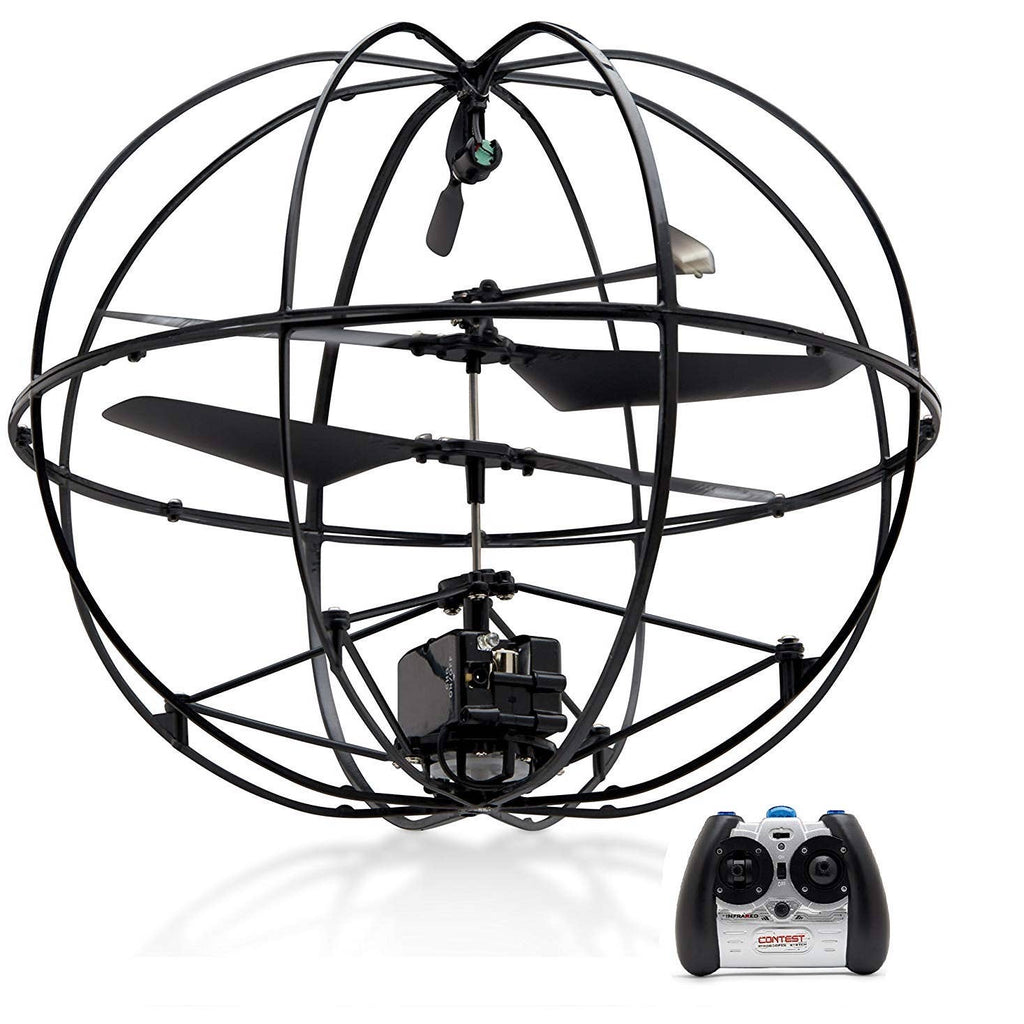 UFO Remote Control Flying Helicopter; Black; Durable Gyroscopic Cage