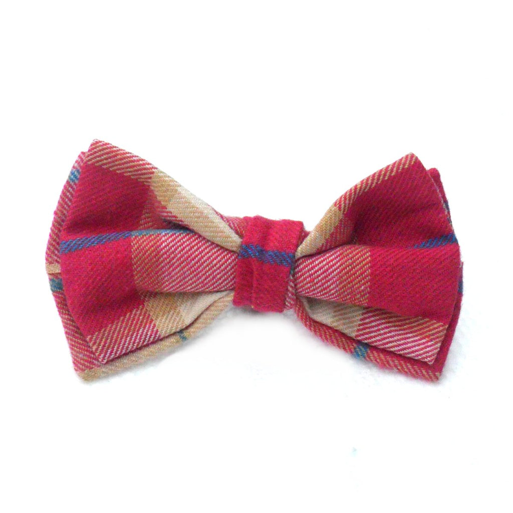 Check Dog & Cat Collar Bows