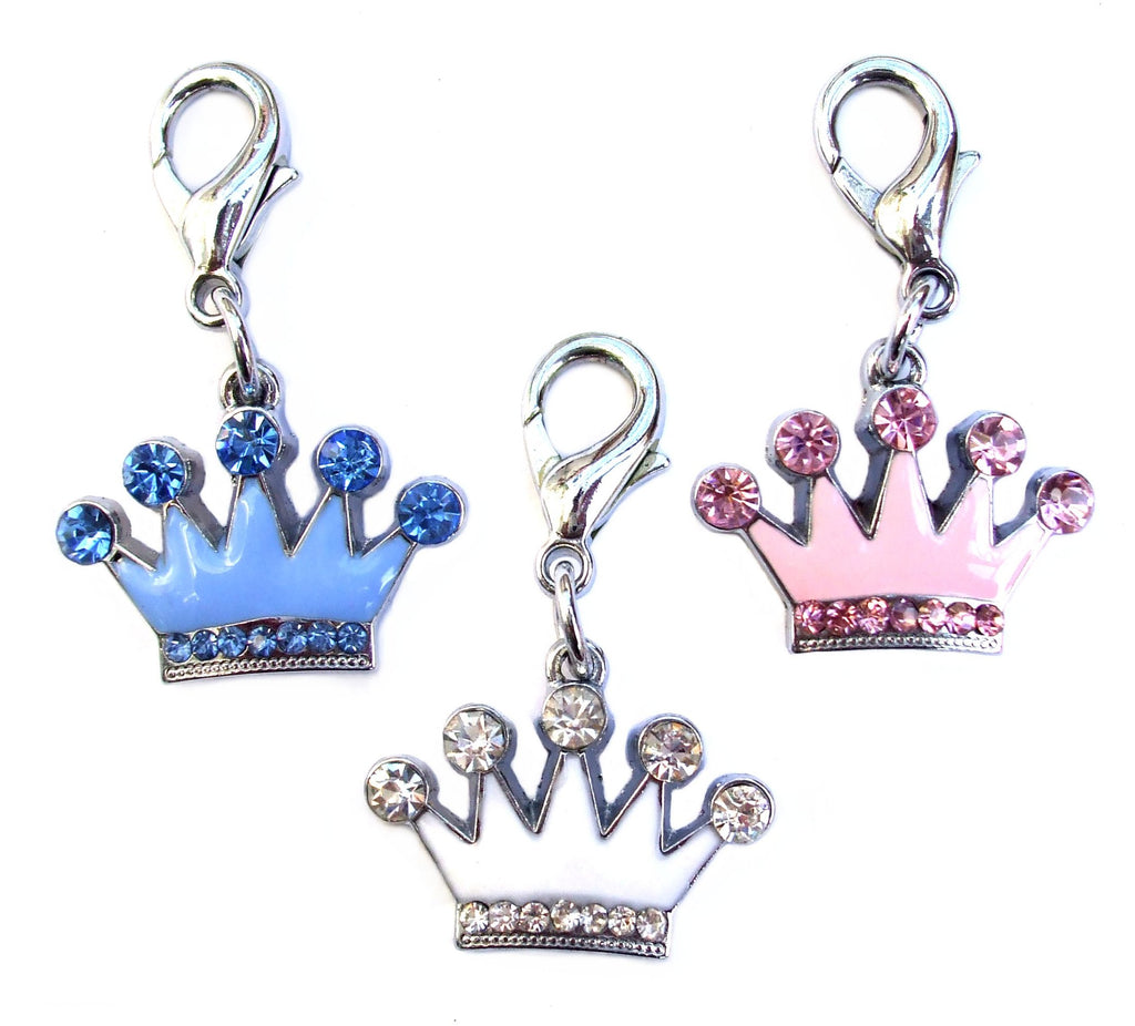 Crown Crystal & Enamel Pet Dog Cat Charms