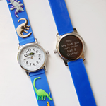 Engraved Kids 3D Dinosaur Watch - Blue - DadiTude