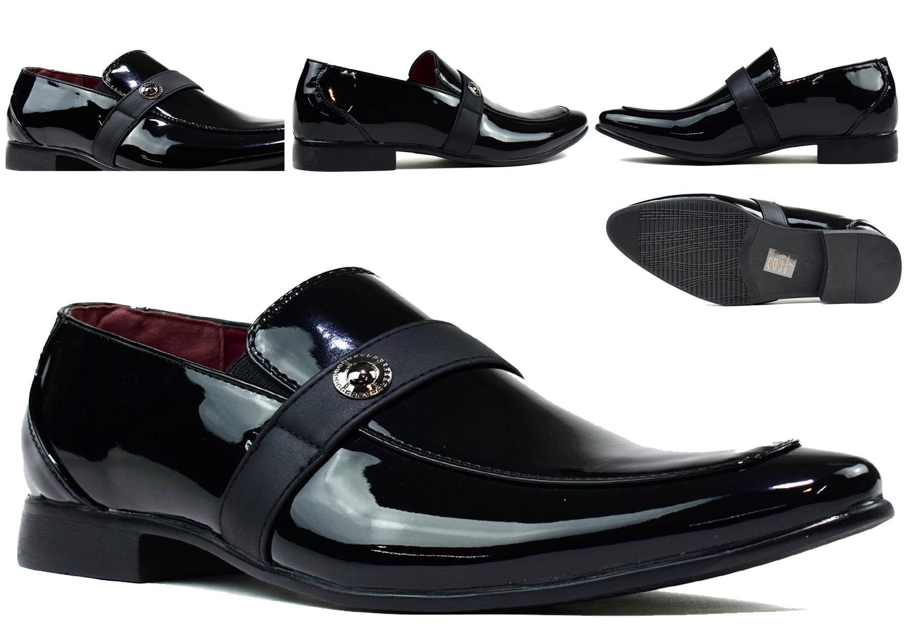 Men's Insignia Slip On Black Shiny - DadiTude