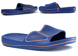Men's Lightweight Waterproof Sliders Navy/Orange