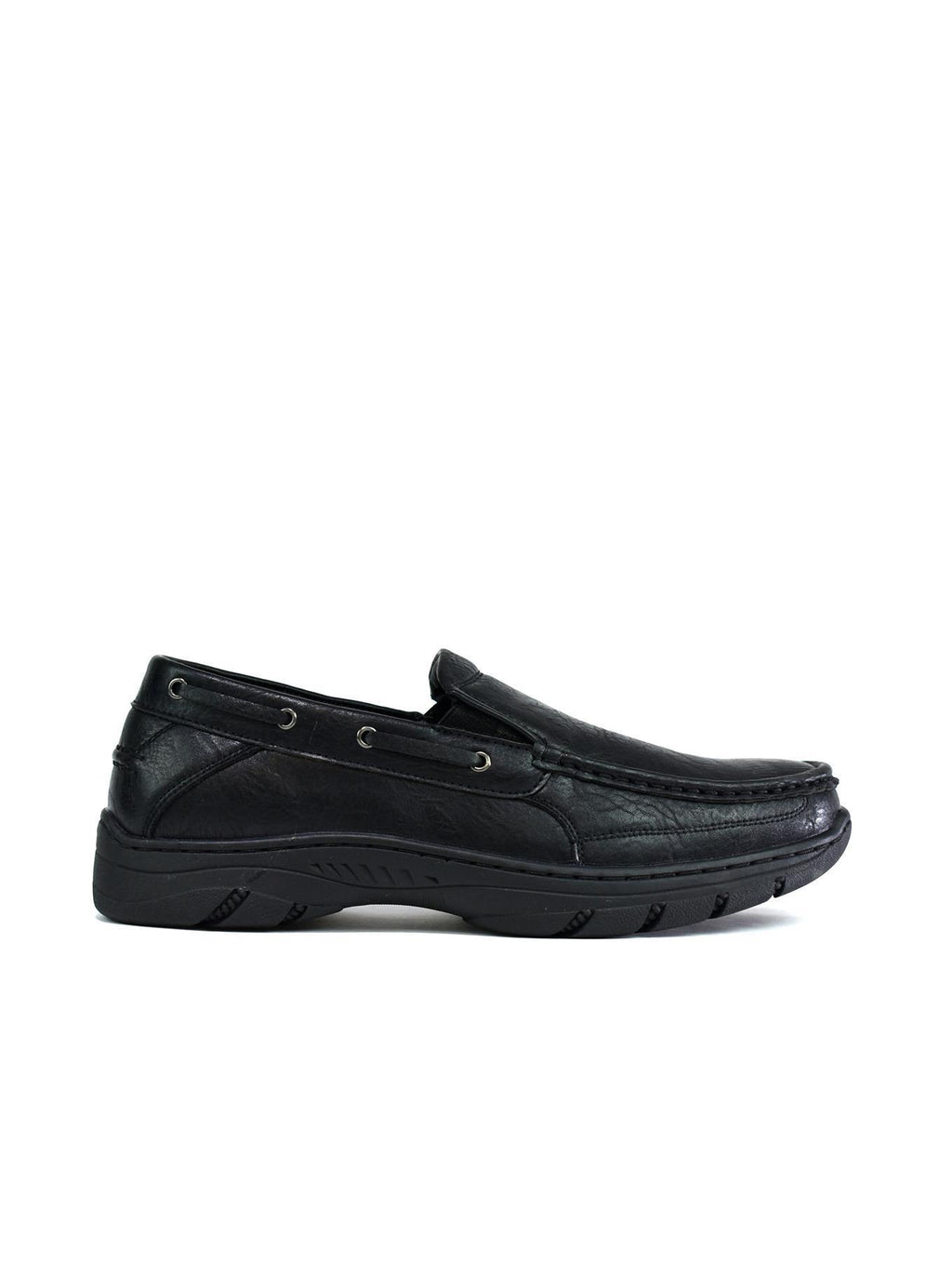 Men's Thick Sole Slip On Walking Shoes Black - DadiTude