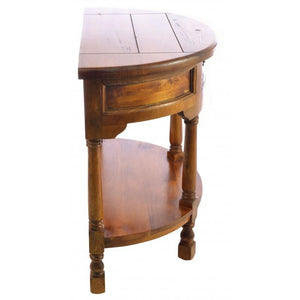 Deziiner East Indies Half Round Console Table