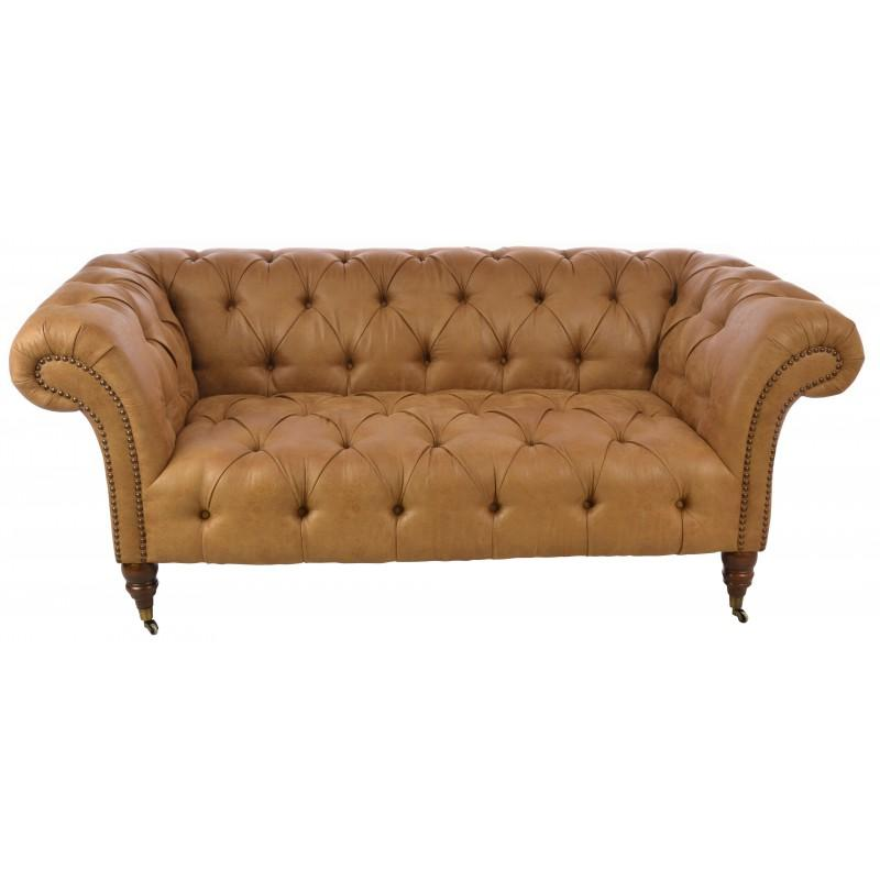 Deziiner Ellie Chesterfield 1.5 seat Brown Faux Leather