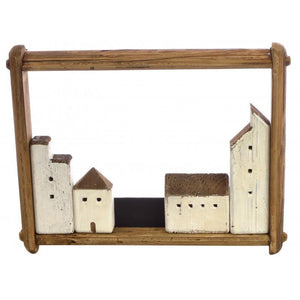 Fair Isle Village in Landscape Frame