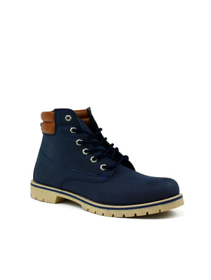 Bartium High Top Boot Navy - DadiTude