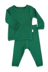 Forest Green Ribbed Lounge Set Unisex Pyjama