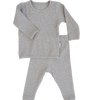 Dove Grey Ribbed Lounge Set Unisex Pyjama