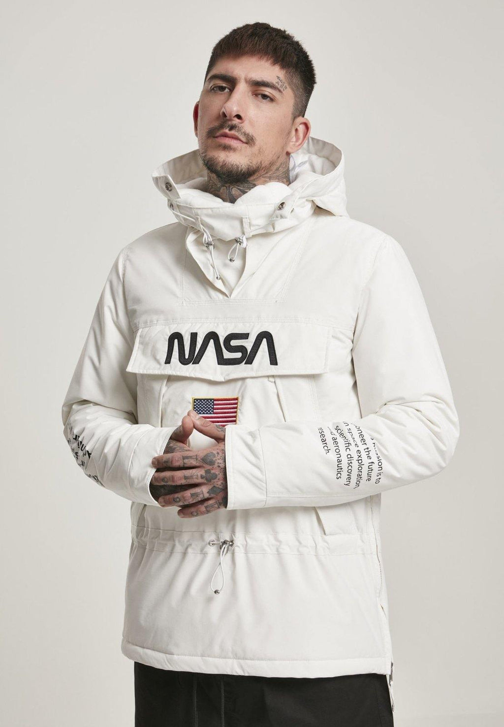 NASA Cool Grey Windbreaker - DadiTude