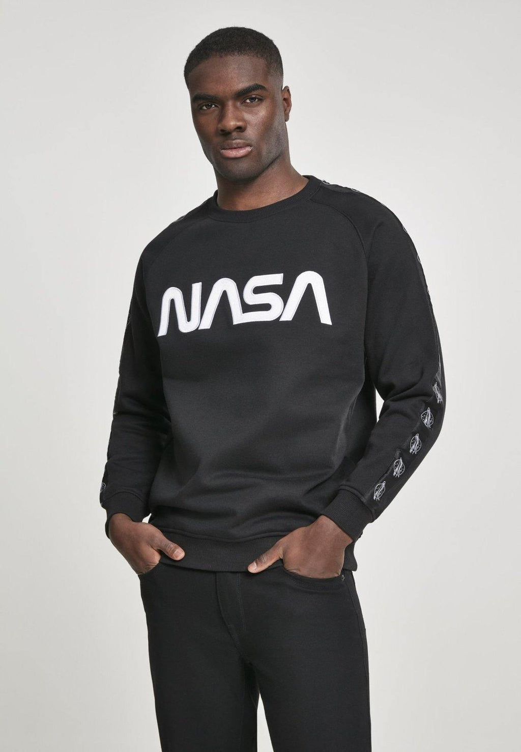 NASA Wormlogo Rocket Tape Sweatshirt - DadiTude