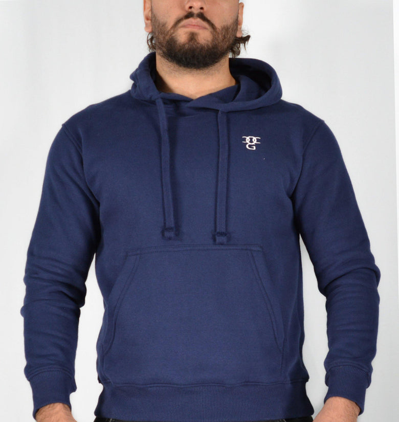 Mens O.G. Symbol Blue Pullover Hooded Top - DadiTude