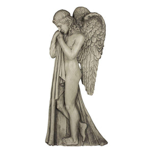 Angel with Wings Wall Mounted Figurine
