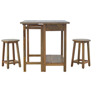 Breakfast Table With 2 Stools