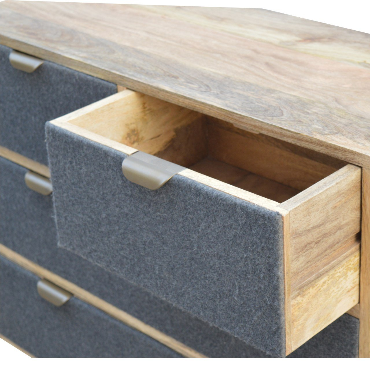 Grey Tweed Chest